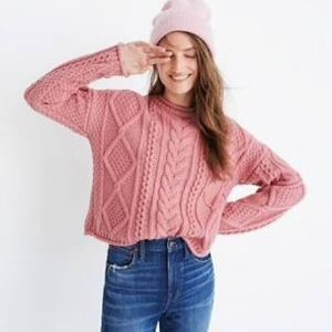Madewell Slope Cableknit Sweater - Large